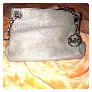Michael Kors gray leather handbag